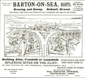Barton on Sea Advert 1904