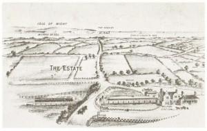 Birds eye view of Milton Park Estate 1892.