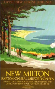 British Railways poster advertising New Milton