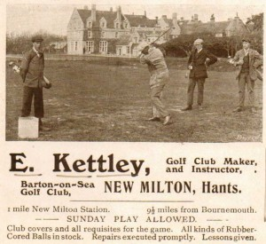 Golf Advert c 1910