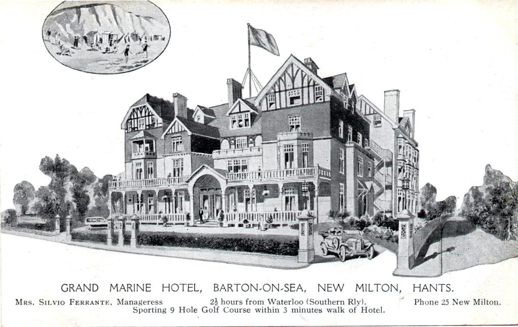 Grand Marine Hotel advert