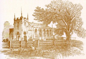 New Milton church from Mudie's 'Hampshire' published in 1838