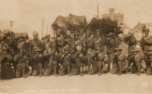Soldiers at New Milton train station