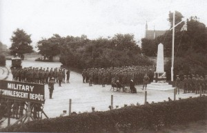 Unveiling of the Indian War Memorial in Barton on Sea. 1917.,