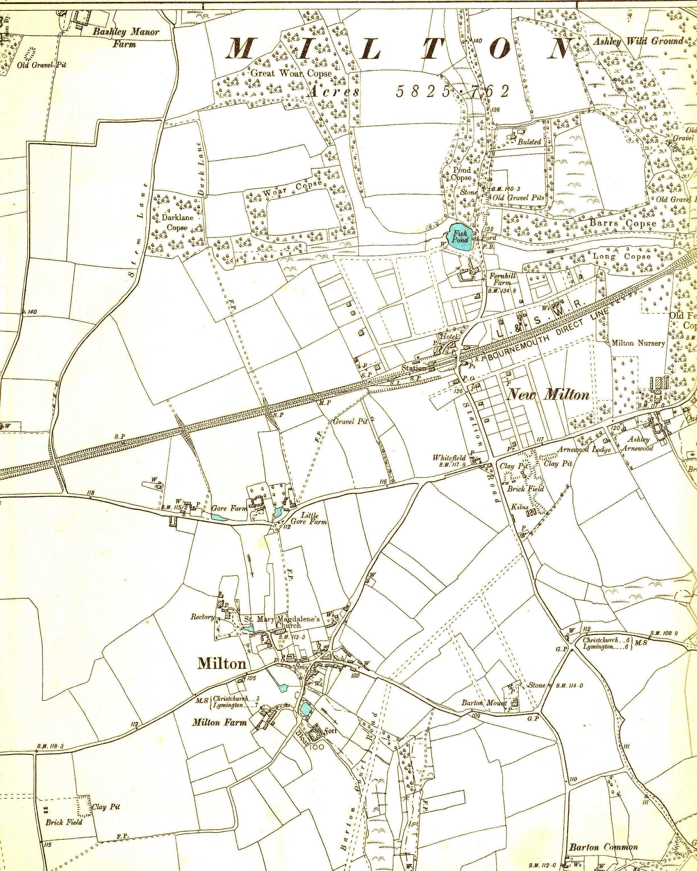 New Milton Maps Milton Heritage Society