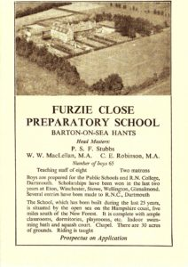 1937-advert-for-furzie-close-prep-school-barton-on-sea-1