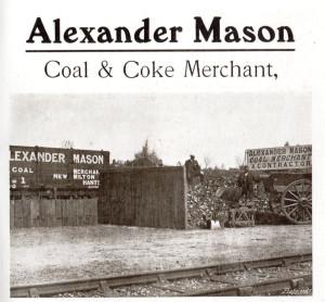 Advert for Alexander and Mason coal merchant