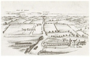 Birds eye view of Milton Park Estate 1892.