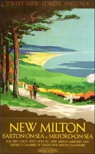 British Railways poster advertising New Milton