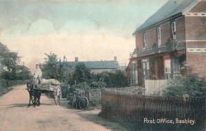 Post Office Bashley in colour
