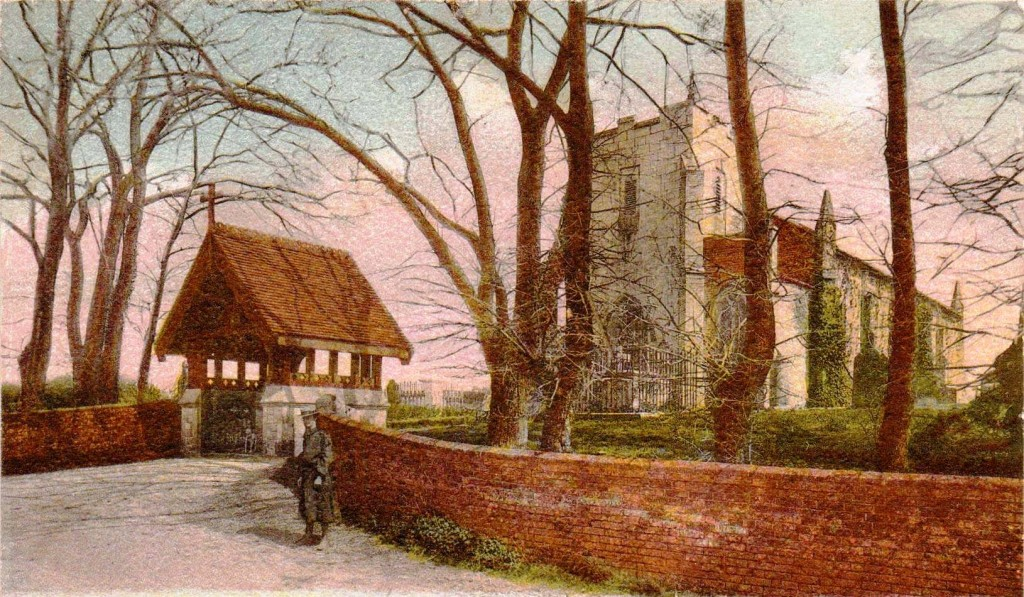 Post card of Church dated 1931 copy