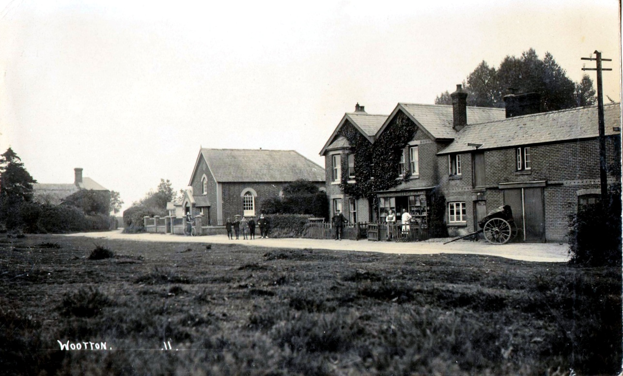 I:\New Milton Photographs and History\Wotton\Article for publication\Photo 2 Dolly Soffes store, the bakery and methodist chapel.  Wootton.jpg
